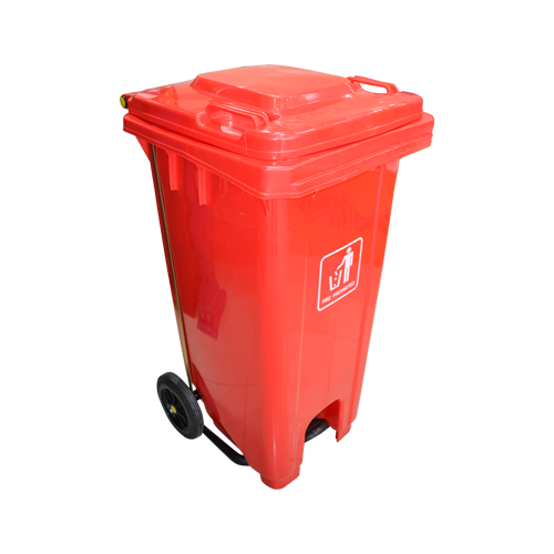 Garbage Can with Pedal 120L | Red