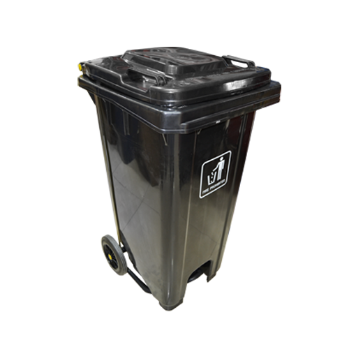 Garbage Can with Pedal 120L | Black