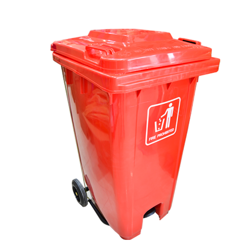 Garbage Can with Pedal 240L | Red
