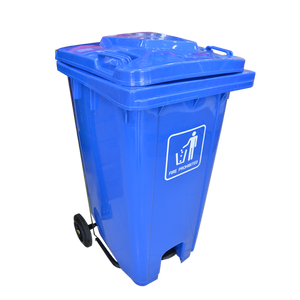 Garbage Can with Pedal 240L | Blue