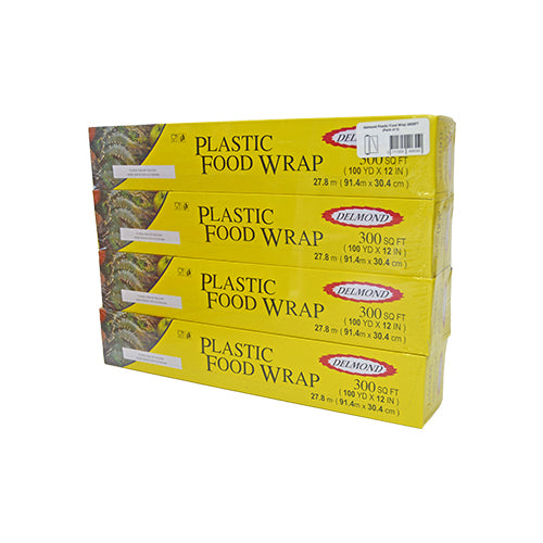 Delmond Plastic Food Wrap 300SFT | Pack of 4