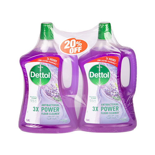 Dettol Antibac Floor Cleaner Lavender | 1.8L | Twin Pack