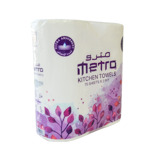 Metro Kitchen Roll Twin Pack