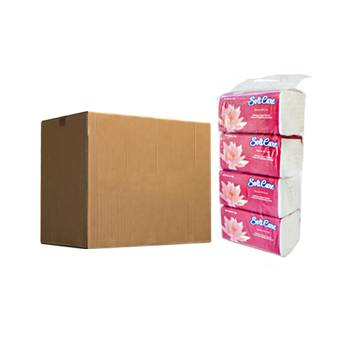 Softcare Nylon Pack | 600 Sheets X 1 Ply | Pack of 40