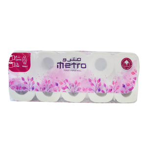 Metro Toilet Roll | 200 Sheets | Pack of 10 Rolls