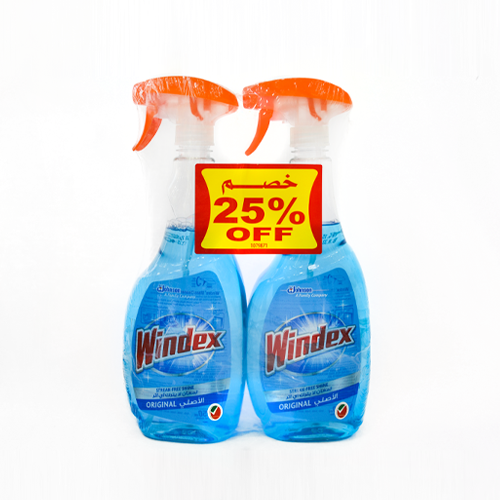 Windex Glass Cleaner Blue | 750ML | Twin Pack