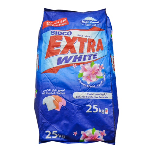 Sidco Extra White Laundry Detergent | Flower Scent | 25KG