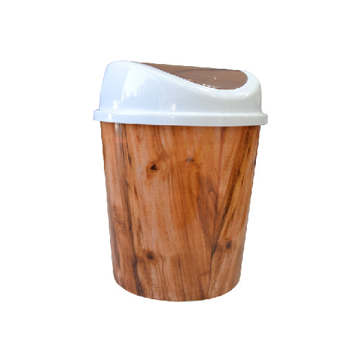 Push Open Brown Dustbin | 8L