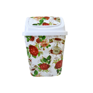 Load image into Gallery viewer, Push Open Floral Dustbin | 9L