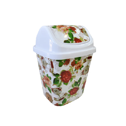 Push Open Floral Dustbin | 9L
