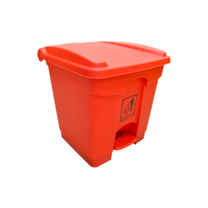 Garbage Can with Pedal 30L | Red