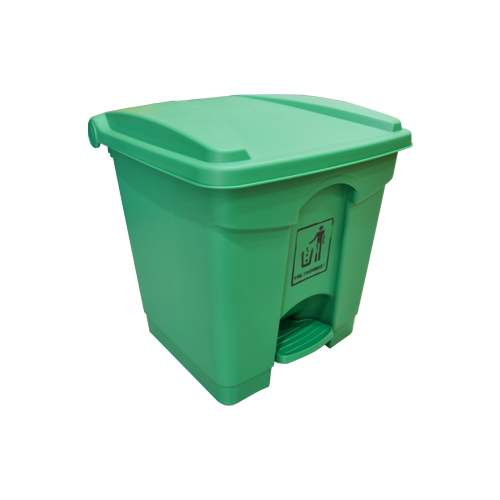 Garbage Can with Pedal 30L | Green