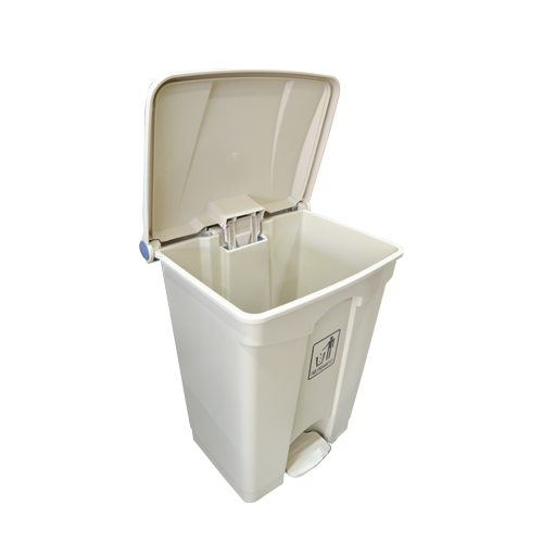 Garbage Can with Pedal 68L | Beige