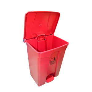 Garbage Can with Pedal 68L | Red