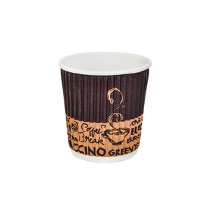ST Ripple Paper Cup 4 OZ | Pack of 25