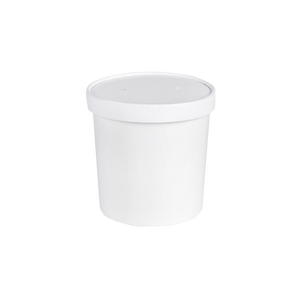 Paper Soup Cups 26 OZ with Paper Lids | Pack of 25