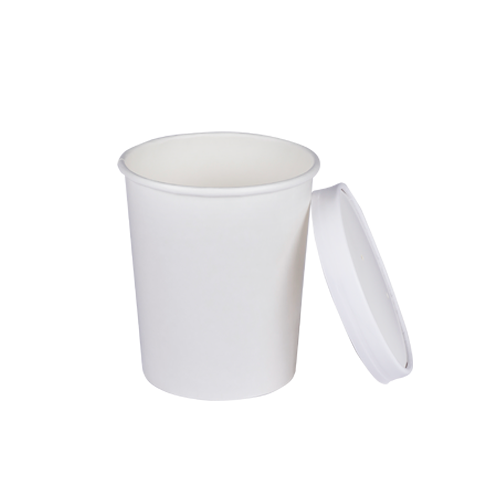 Paper Soup Cups 32 OZ with Paper Lids | Pack of 5