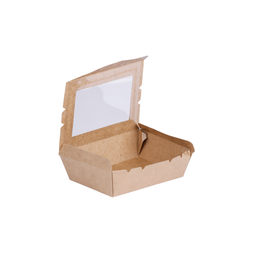 Kraft Meal Box with Window Small | Pack of 50