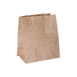 White Bags with Flat Handle | Pack of 25