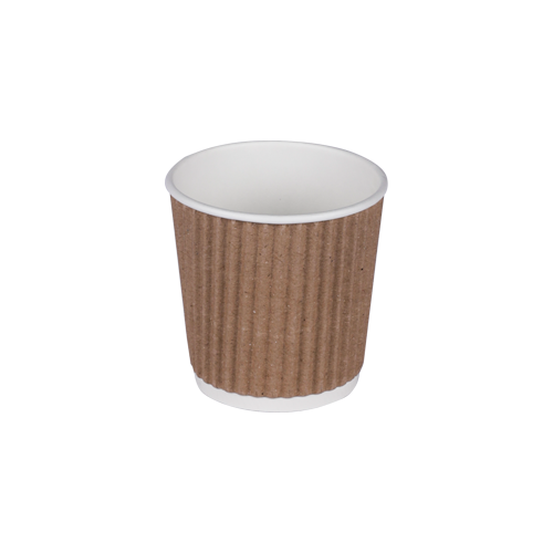 Load image into Gallery viewer, Kraft Ripple Cups 4oz | Pack of 25