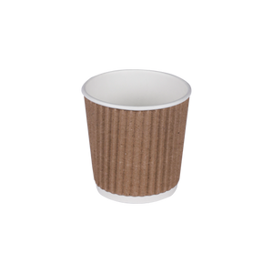 Kraft Ripple Cups 4oz | Pack of 25