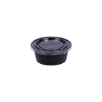 ST Black Souffle Cup PP 3 OZ with Lids | Pack of 100