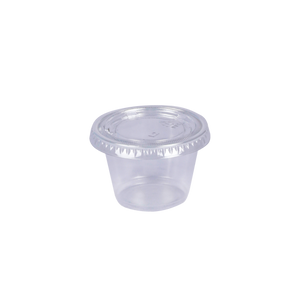ST Souffle Cup Trans PP 2.5 OZ with Lids | Pack of 100