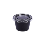 ST Black Souffle Cup PP 2.5 OZ with Lids | Pack of 100