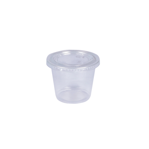 ST Souffle Cup Trans PP 5.5 OZ with Lids | Pack of 100