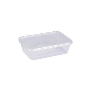 Microwave Container Rectangle 650 CC | Pack of 20