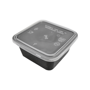 Load image into Gallery viewer, Black Base Container Square 250ML with Lids | Pack of 25