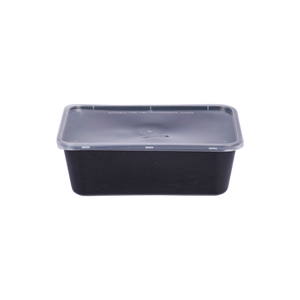 Black Base Container with Lids 750ML | Pack of 10