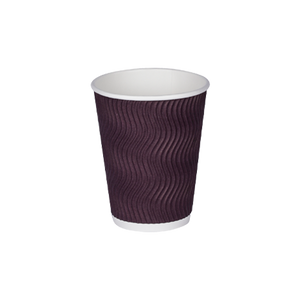 Wavy Ripple Paper Cup 12 OZ | Pack of 25
