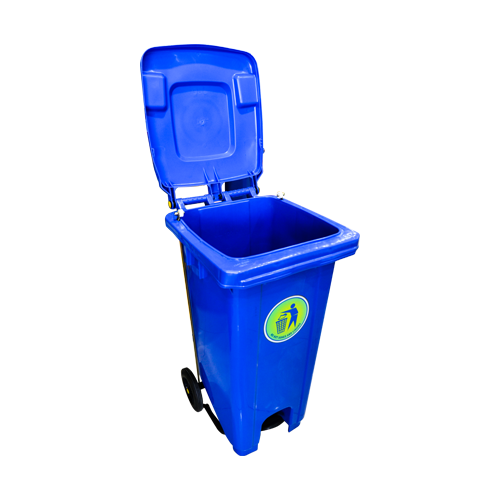 Load image into Gallery viewer, T Dustbin 120L Center Pedal Blue VT