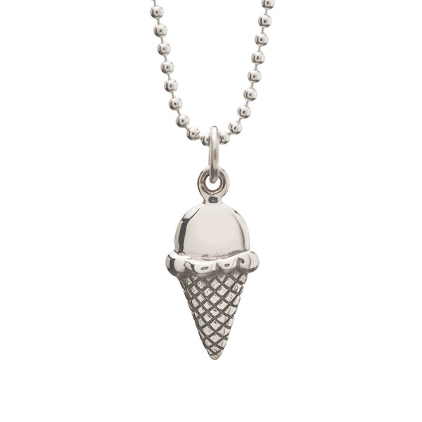 Love You More Than Ice Cream Charm Necklace On Greeting Card