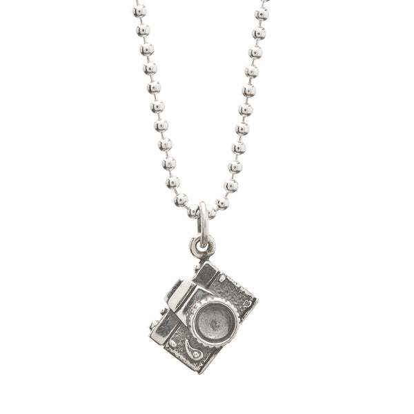 We Develop From The Negative Camera Charm Necklace On Greeting Card
