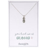 """You Had Me At Aloha"" - Sterling Silver Pineapple Charm Necklace"