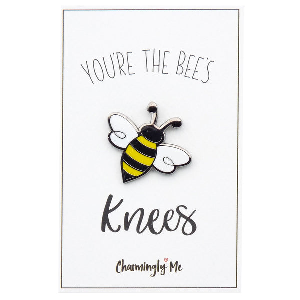 """You're the Bees Knees"" Bumble Bee Lapel Pin on Greeting Card"