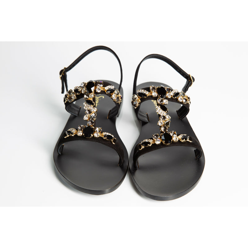 Swarovski sandals flat made in italy