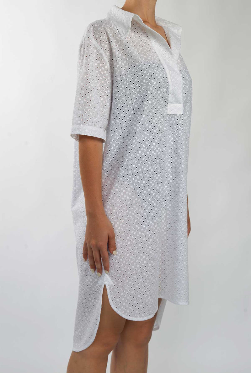 midi cotton shirt dress
