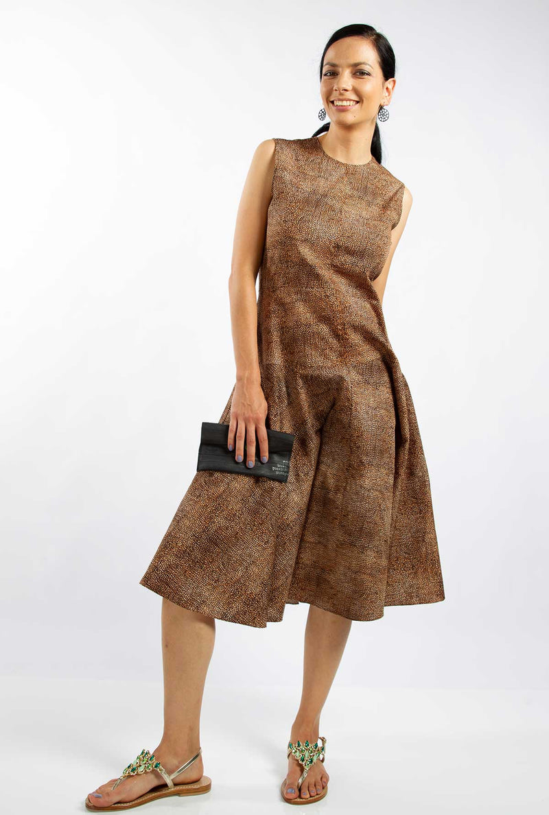 fit and flare dress brown australia