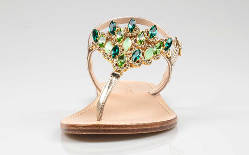 capri sandals with crystal stones