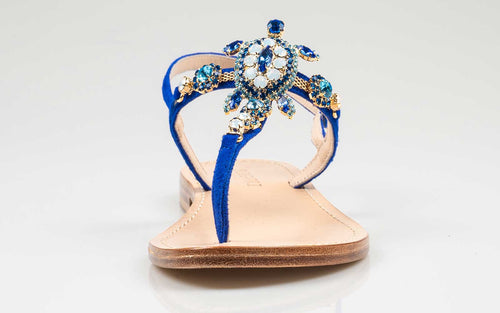 sandals with crystal stones