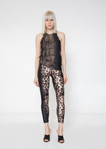 DIFFUSELY SPOTTED LEGGINGS