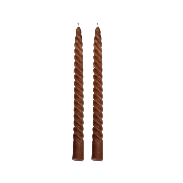 Spiral candles Brown (set/2)