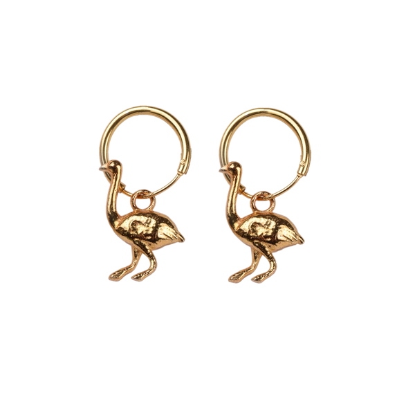 Ostrich pair of earrings