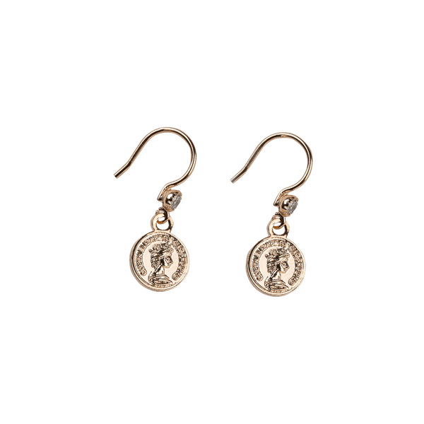 Coin diamond pair of earrings
