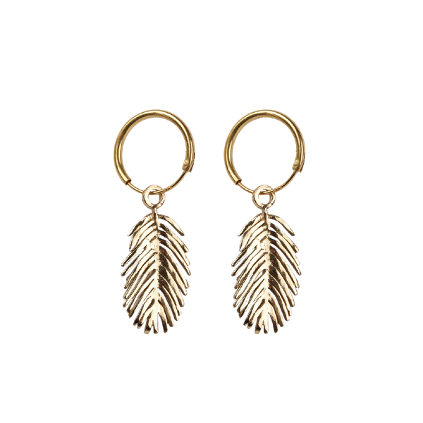 Palm leaf pair of earrings