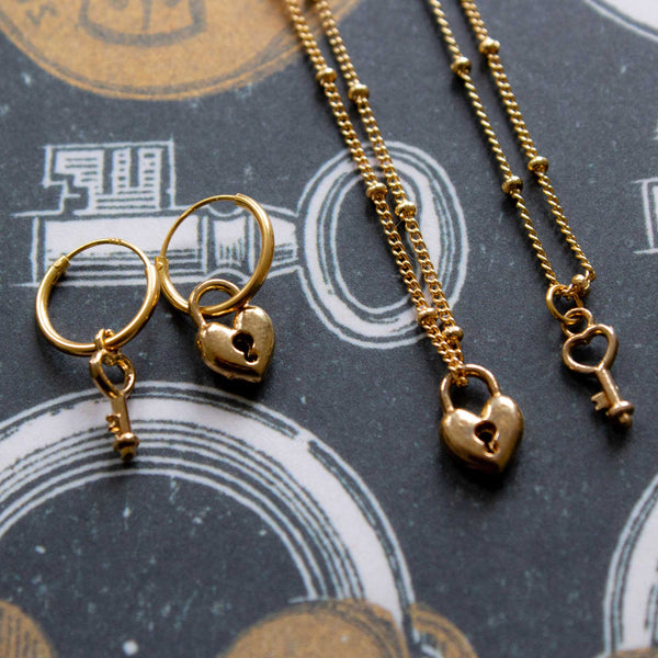 Lock / key 2x friendship necklaces