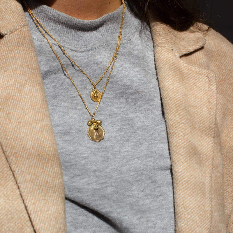 Coin + bells necklace